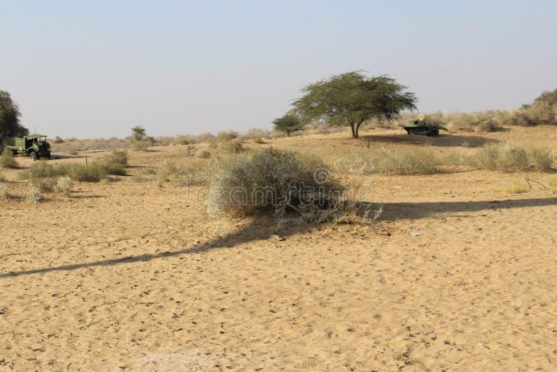 De oorlog van het woestijnland royalty-vrije stock foto's