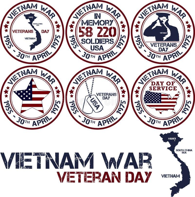 De Oorlog van Vietnam De Dag van de herinnering stock illustratie
