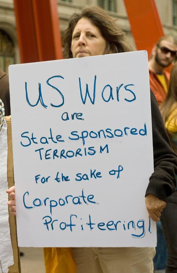 De Oorlogen van de V.S. zijn Staat Gesponsord Terrorisme stock afbeeldingen
