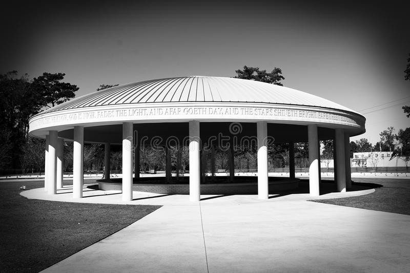 De Oorlogs Herdenkingsfontein Zwart-wit Jacksonville, NC van Vietnam royalty-vrije stock afbeeldingen