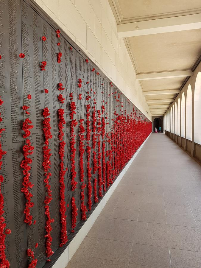 De oorlogsgedenkteken van Canberra stock afbeeldingen