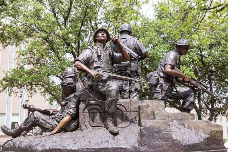 De Oorlogsgedenkteken van Vietnam in Austin, Texas stock foto