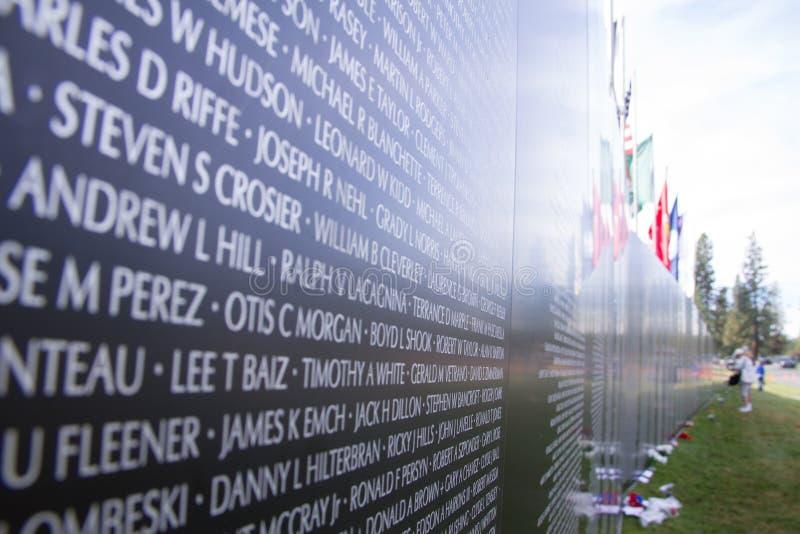 De Oorlogsgedenkteken van Vietnam stock afbeeldingen