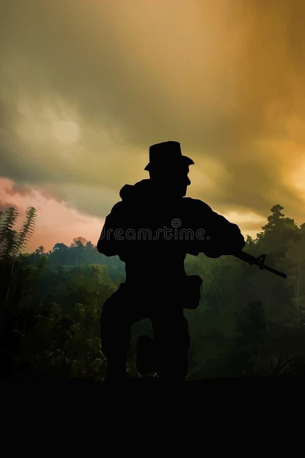 De Oorlogsscène van Vietnam royalty-vrije illustratie