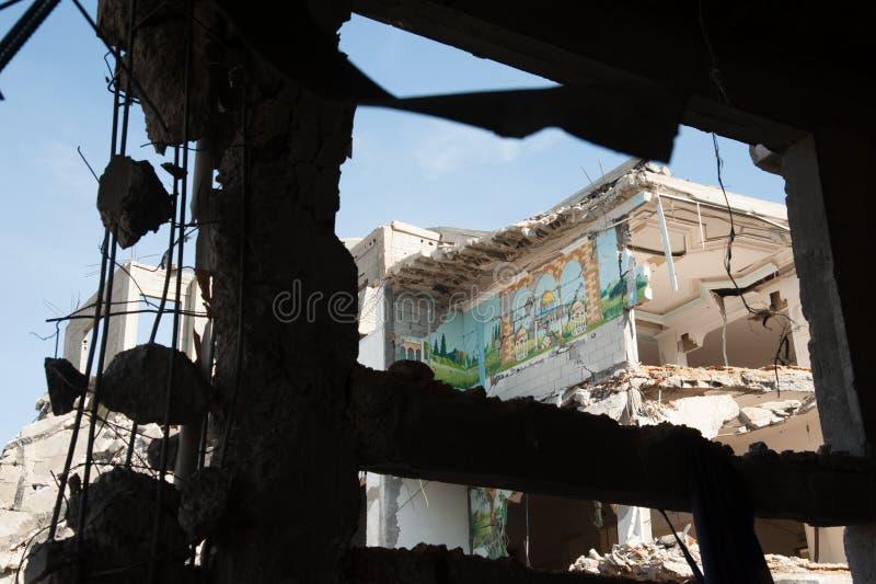 De oorlogsschade van Gaza royalty-vrije stock foto's