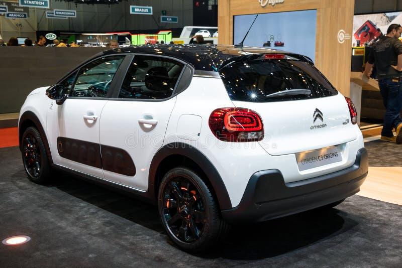 De Oorsprongsauto van Citroën C3 stock foto