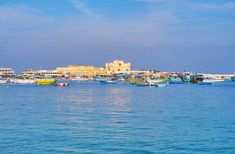 De Oostelijke haven, Alexandrië, Egypte royalty-vrije stock foto's