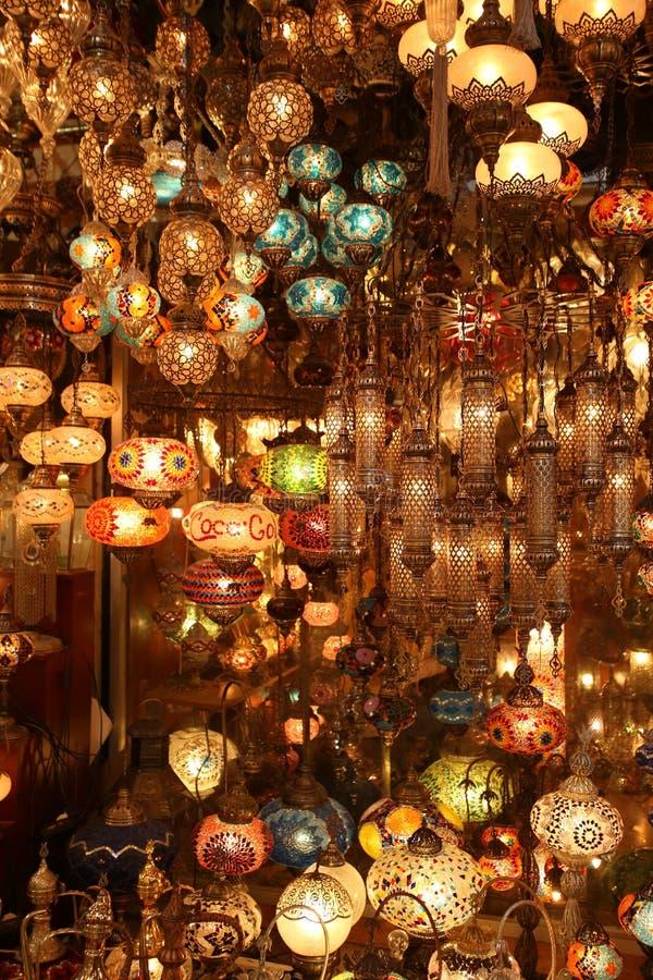 De oostelijke lichten en de lampen van Turkije magische stock afbeelding