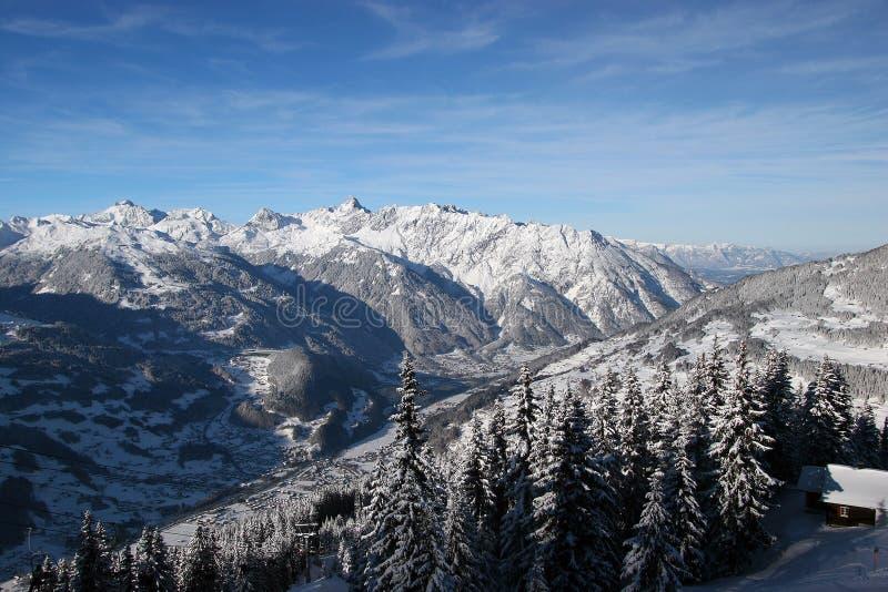 De Oostenrijkse alpen royalty-vrije stock afbeelding