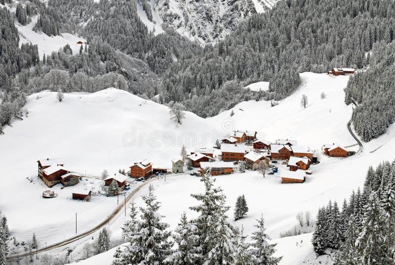 De Oostenrijkse Scène van de Winter stock foto