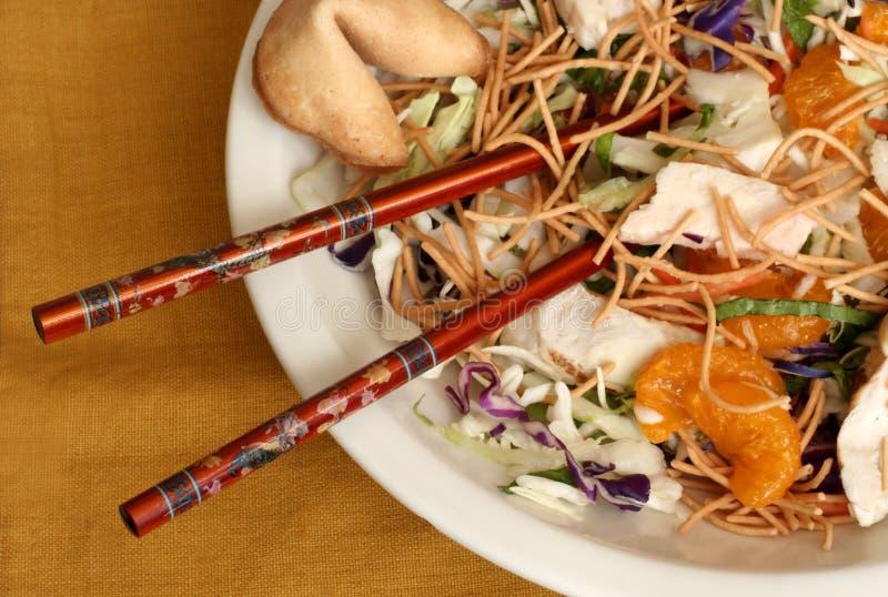 De oosterse Salade van de Kip royalty-vrije stock afbeelding