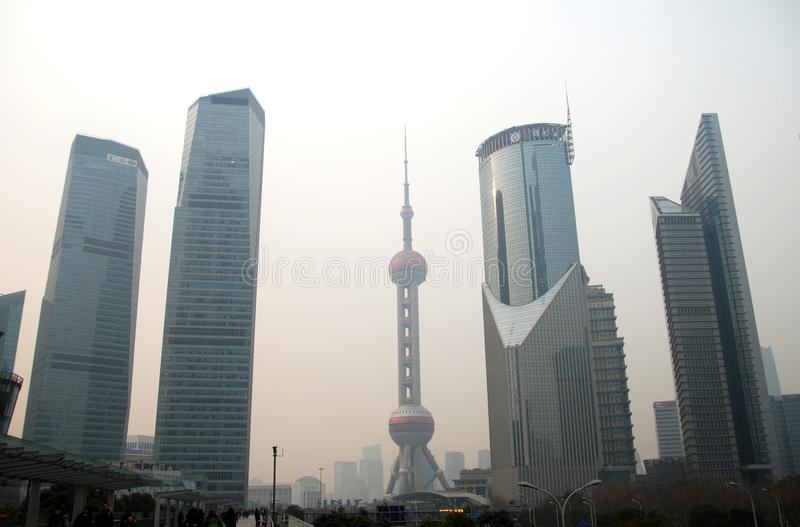 De oosterse Toren van Pareltv van Shanghai royalty-vrije stock foto's