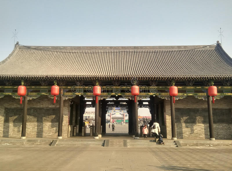 De oosterse traditionele architectuur stock foto's