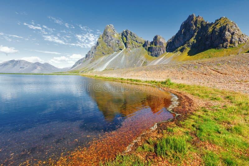 De oostkust van IJsland royalty-vrije stock afbeelding