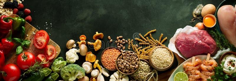 De opbrengst van de gezonde, paleooogst en ingrediënten royalty-vrije stock afbeeldingen