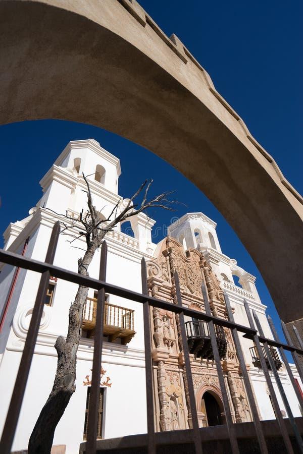 De opdracht Arizona van San Xavier del bac royalty-vrije stock afbeelding