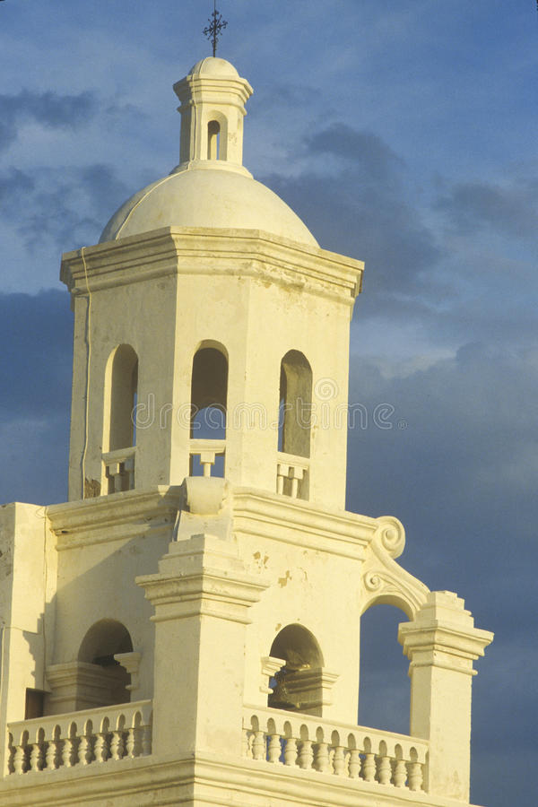 De Opdracht San Xavier Del Bac werd opgericht tussen 1783 en 1897 in Tucson Arizona stock afbeelding
