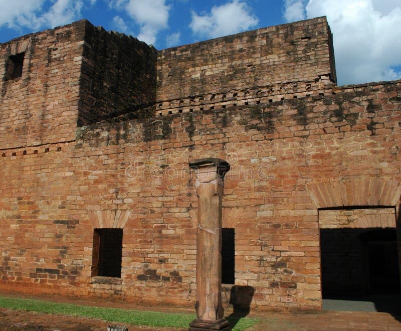 De Opdracht van jezuïettinidad, Paraguay stock foto