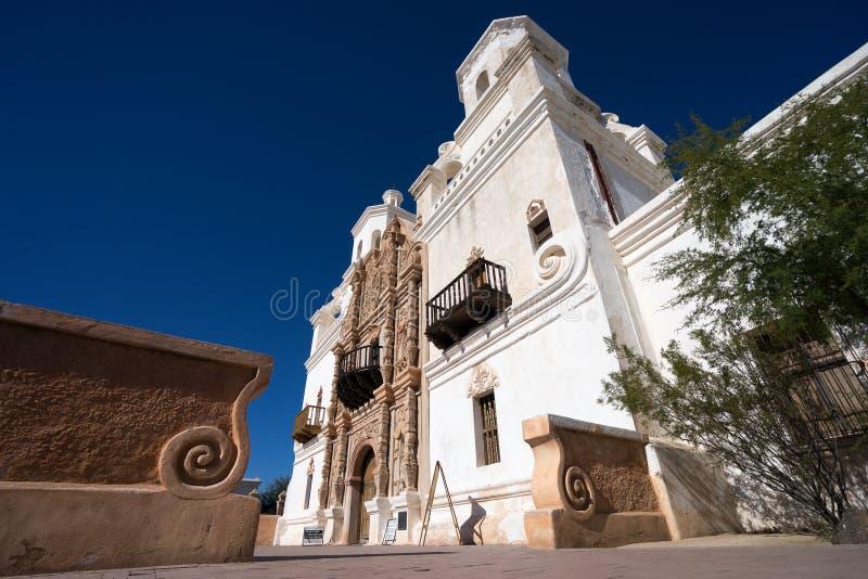 De opdracht van San Xavier del bac in Tucson Arizona royalty-vrije stock afbeelding