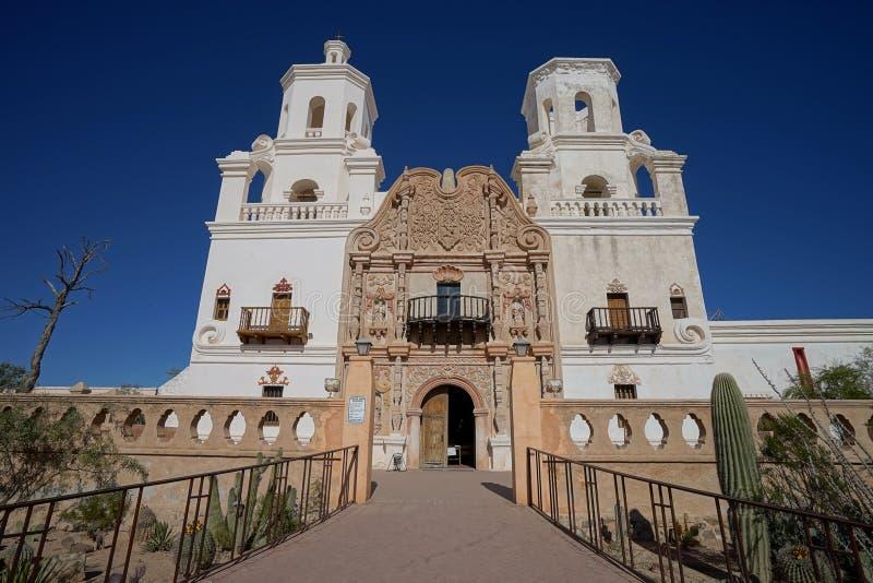 De opdracht van Sn Xavier del bac in Tucson Arizona royalty-vrije stock afbeeldingen