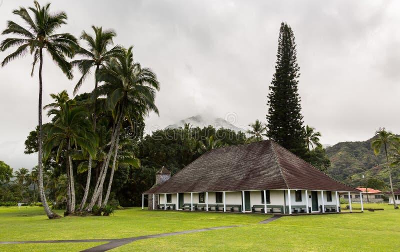 De Opdrachtzaal van Waiolihuiia in Hanalei Kauai stock foto's