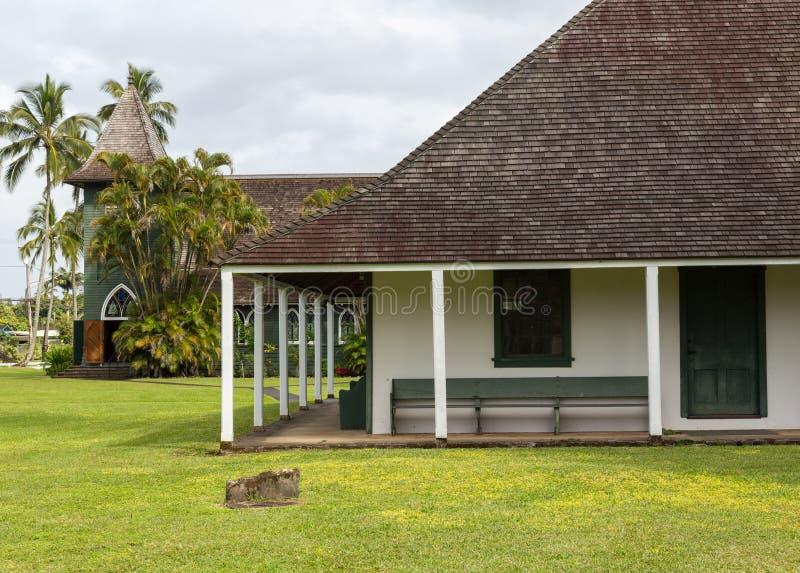 De Opdrachtzaal van Waiolihuiia in Hanalei Kauai stock afbeeldingen