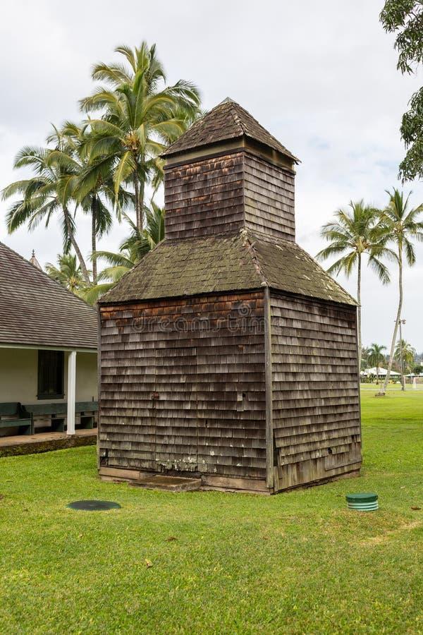 De Opdrachtzaal van Waiolihuiia in Hanalei Kauai stock foto