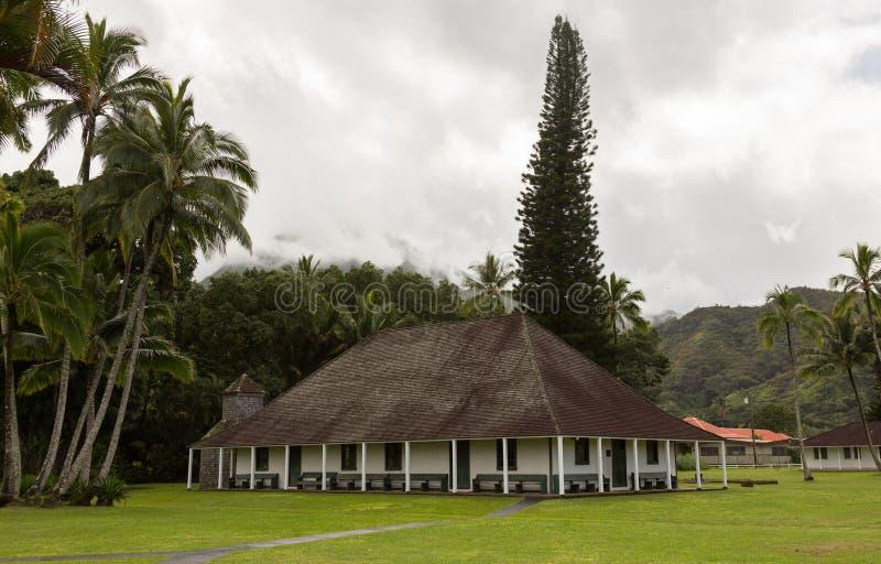 De Opdrachtzaal van Waiolihuiia in Hanalei Kauai royalty-vrije stock foto