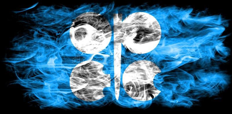 De OPEC-rookvlag, Organisatie van Olieuitvoerende Countri stock illustratie