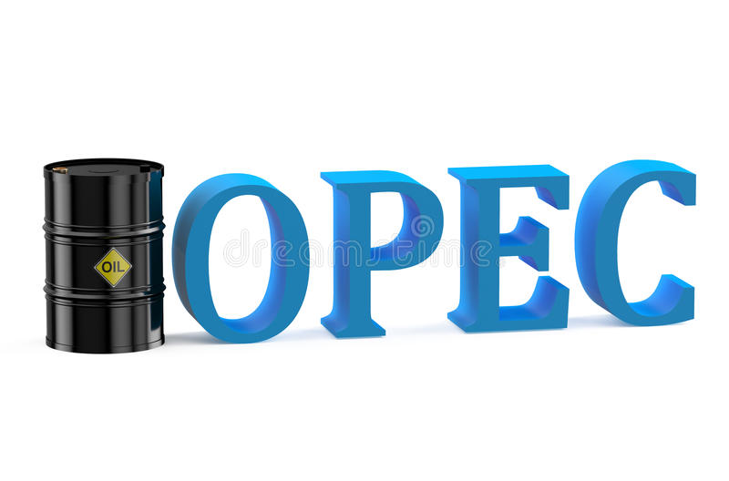 De OPEC-vergaderingenconcept stock illustratie