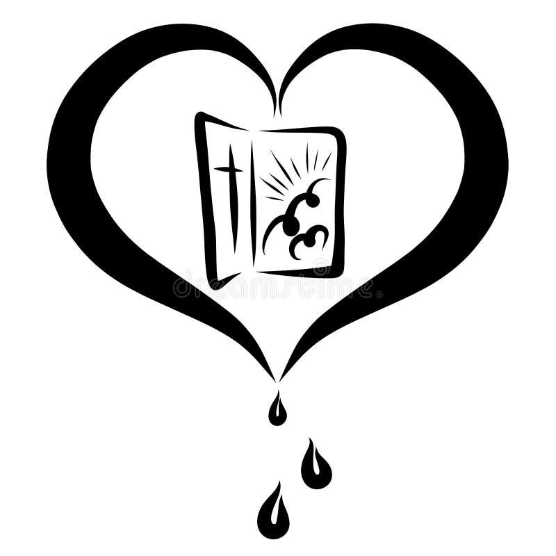 De open deur aan Hemel, de liefde van het redden van Lord vector illustratie