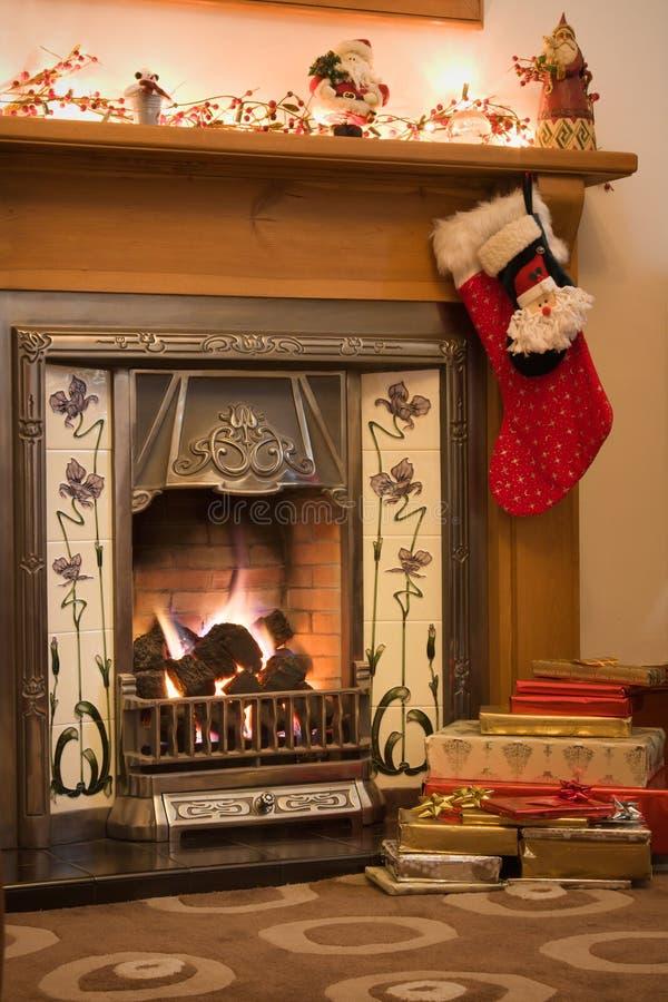 De open haard van Kerstmis stock foto