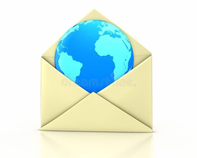De open nieuwe aarde van de brief stock illustratie