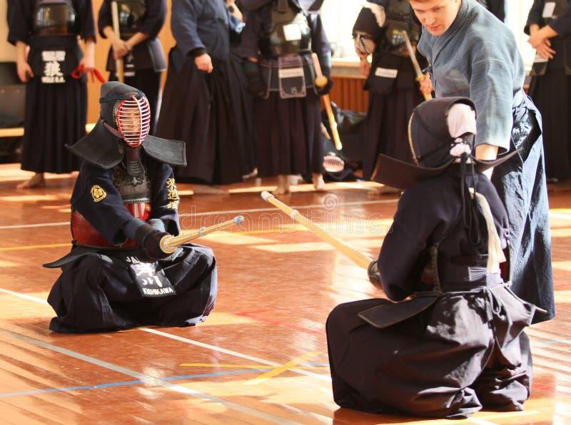 De Open Toernooien van Moskou op Kendo stock afbeeldingen
