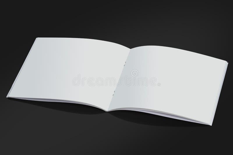 De open Witte Lege Dekking van het Brochuretijdschrift voor Spot omhoog stock afbeeldingen