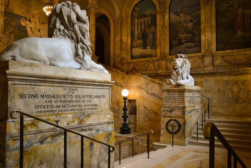 De Openbare bibliotheek van Boston royalty-vrije stock afbeeldingen
