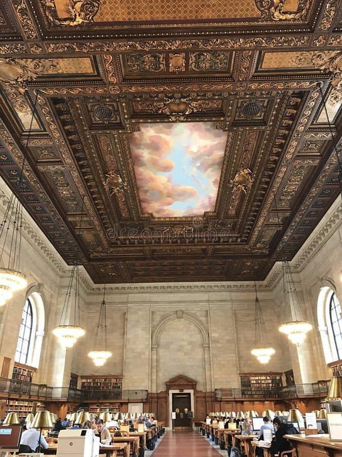 De Openbare Bibliotheek van New York stock afbeelding