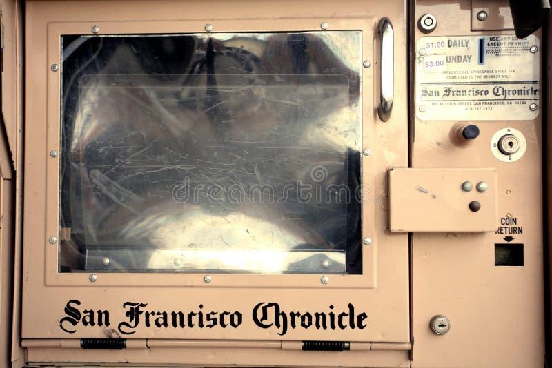 De openbare doos van San Francisco Chronicle stock foto