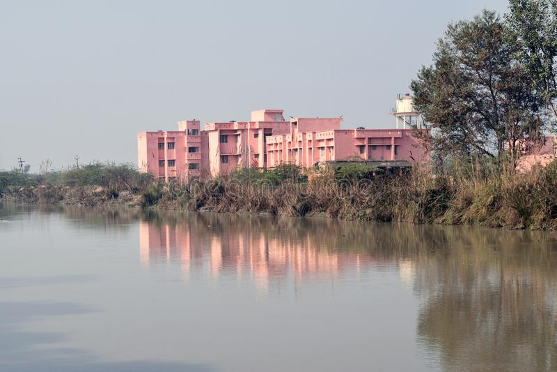De openbare gezondheidscentrumbouw in India stock foto's