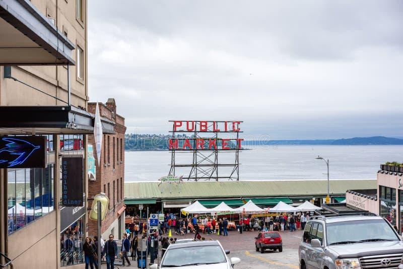 De Openbare Markt van Seattle stock fotografie