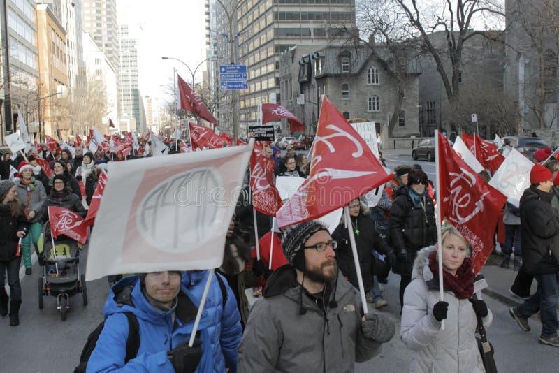 De openbare sectorstakingen van Quebec royalty-vrije stock foto