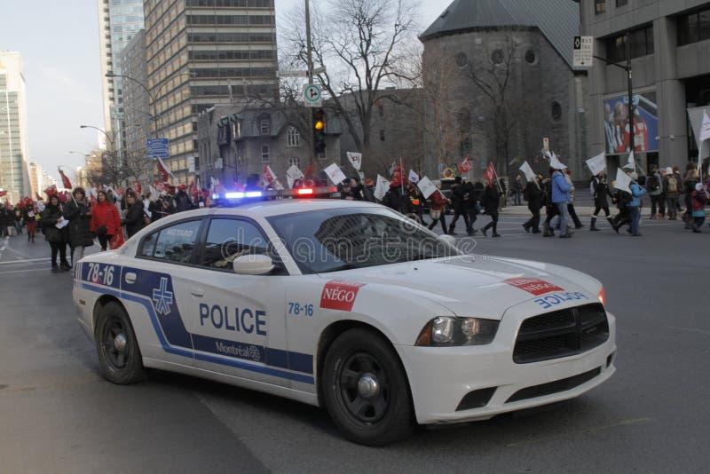 De openbare sectorstakingen van Quebec royalty-vrije stock fotografie