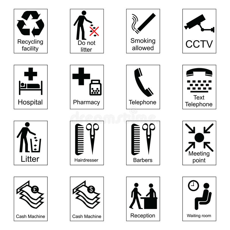 De openbare Tekens van de Informatie stock illustratie