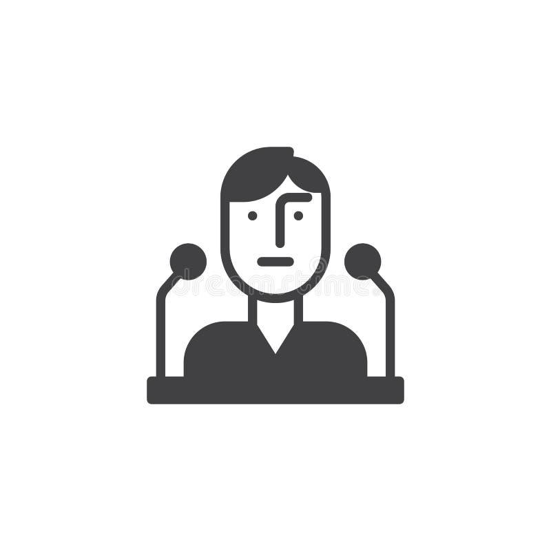 De openbare vector van het toespraakpictogram stock illustratie