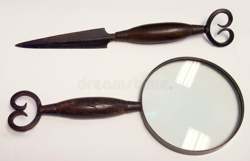 De Opener & het Vergrootglas van de brief royalty-vrije stock foto's