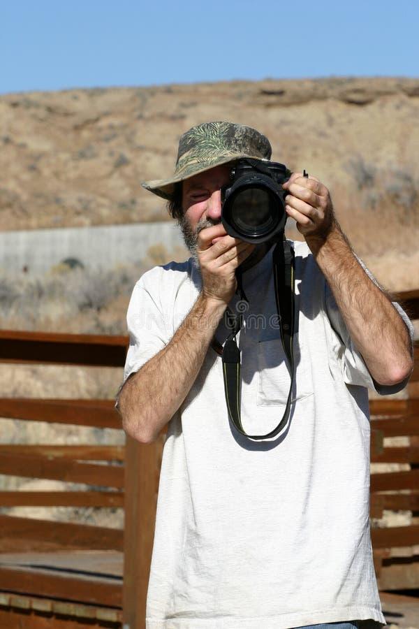 De openlucht Kerel van de Fotograaf royalty-vrije stock foto's