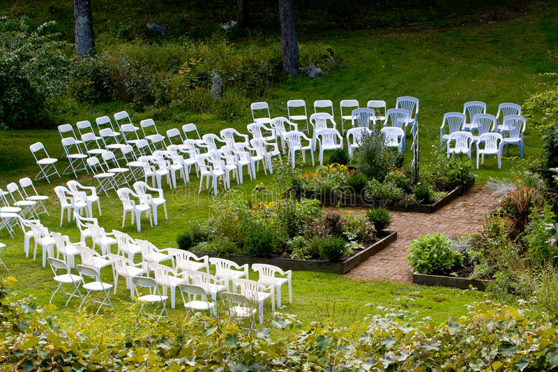 De openlucht plaats van de huwelijksceremonie royalty-vrije stock afbeelding
