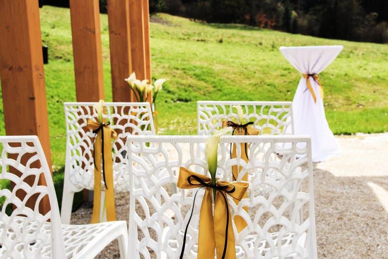 De openlucht Scène van het Huwelijk stock foto