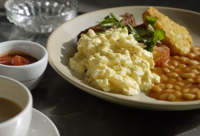 De openluchtkoffie van het ontbijt royalty-vrije stock fotografie