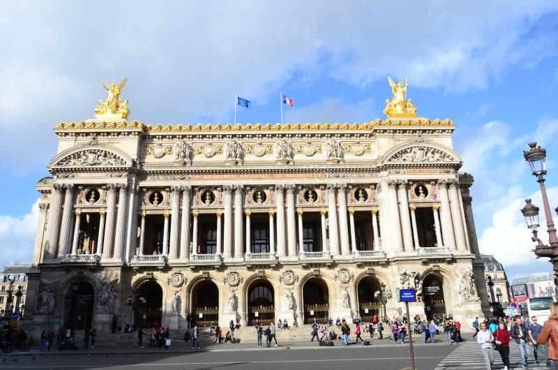 De Opera/Garnier Opera van Parijs stock fotografie